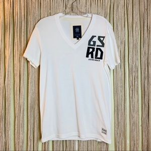 G Star Raw Short Sleeve Vneck Tee Size L